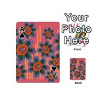 Colorful Floral Dream Playing Cards 54 (Mini)  Front - SpadeA