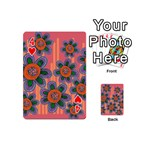 Colorful Floral Dream Playing Cards 54 (Mini)  Front - Heart4