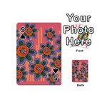 Colorful Floral Dream Playing Cards 54 (Mini)  Front - Spade5
