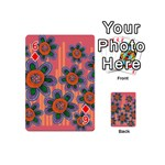 Colorful Floral Dream Playing Cards 54 (Mini)  Front - Diamond6