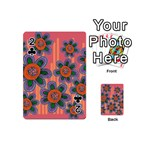 Colorful Floral Dream Playing Cards 54 (Mini)  Front - Club2