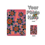 Colorful Floral Dream Playing Cards 54 (Mini)  Front - Spade6