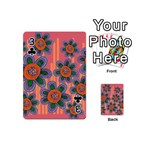 Colorful Floral Dream Playing Cards 54 (Mini)  Front - Club3