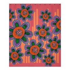 Colorful Floral Dream Shower Curtain 60  x 72  (Medium)