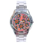 Colorful Floral Dream Stainless Steel Analogue Watch Front