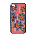 Colorful Floral Dream Apple iPhone 4 Case (Black) Front