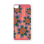 Colorful Floral Dream Apple iPhone 4 Case (White) Front