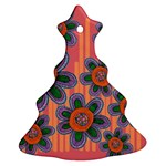 Colorful Floral Dream Christmas Tree Ornament (2 Sides) Back