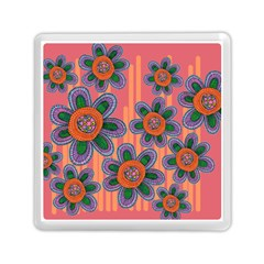 Colorful Floral Dream Memory Card Reader (Square)
