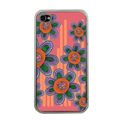 Colorful Floral Dream Apple Iphone 4 Case (clear) by DanaeStudio