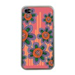 Colorful Floral Dream Apple iPhone 4 Case (Clear) Front