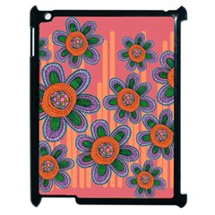 Colorful Floral Dream Apple Ipad 2 Case (black) by DanaeStudio