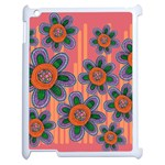 Colorful Floral Dream Apple iPad 2 Case (White) Front