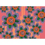 Colorful Floral Dream BOY 3D Greeting Card (7x5) Back
