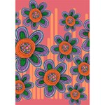 Colorful Floral Dream Heart 3D Greeting Card (7x5) Inside