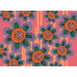 Colorful Floral Dream Heart 3D Greeting Card (7x5) Back