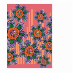Colorful Floral Dream Large Garden Flag (two Sides) by DanaeStudio