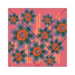 Colorful Floral Dream Acrylic Tangram Puzzle (6  X 6 ) by DanaeStudio