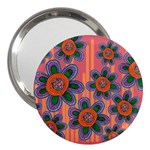 Colorful Floral Dream 3  Handbag Mirrors Front