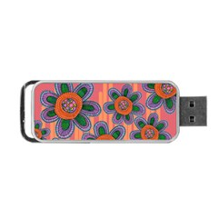 Colorful Floral Dream Portable Usb Flash (one Side) by DanaeStudio