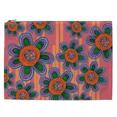Colorful Floral Dream Cosmetic Bag (XXL)