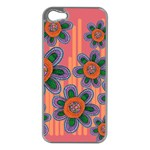 Colorful Floral Dream Apple iPhone 5 Case (Silver) Front