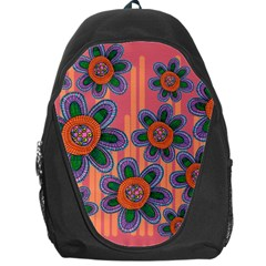 Colorful Floral Dream Backpack Bag by DanaeStudio