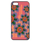Colorful Floral Dream Apple iPhone 5 Seamless Case (Black) Front