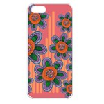 Colorful Floral Dream Apple iPhone 5 Seamless Case (White) Front