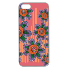 Colorful Floral Dream Apple Seamless Iphone 5 Case (clear) by DanaeStudio