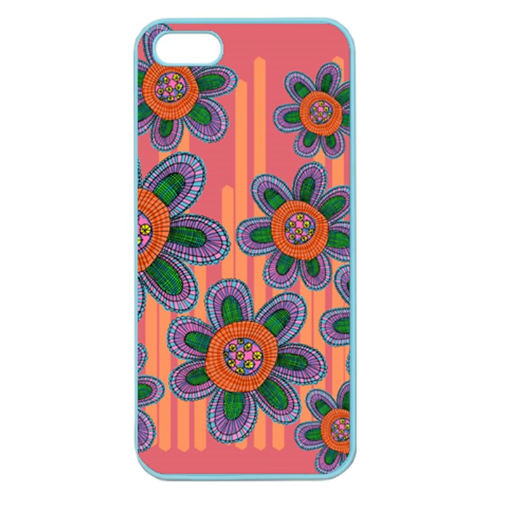 Colorful Floral Dream Apple Seamless iPhone 5 Case (Color)