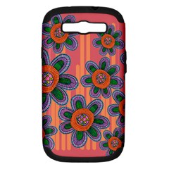 Colorful Floral Dream Samsung Galaxy S Iii Hardshell Case (pc+silicone) by DanaeStudio