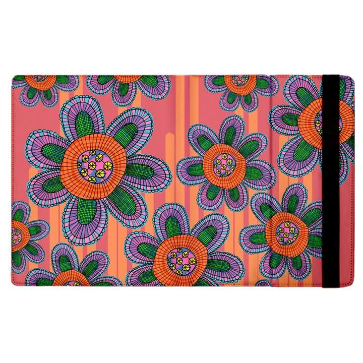 Colorful Floral Dream Apple iPad 2 Flip Case