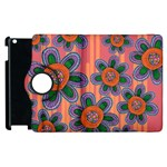 Colorful Floral Dream Apple iPad 2 Flip 360 Case Front