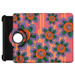 Colorful Floral Dream Kindle Fire Hd Flip 360 Case