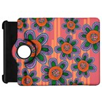 Colorful Floral Dream Kindle Fire HD Flip 360 Case Front