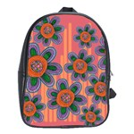 Colorful Floral Dream School Bags (XL)  Front