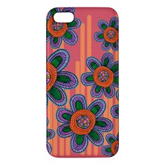 Colorful Floral Dream Apple Iphone 5 Premium Hardshell Case by DanaeStudio