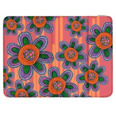 Colorful Floral Dream Samsung Galaxy Tab 7  P1000 Flip Case