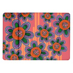 Colorful Floral Dream Samsung Galaxy Tab 10 1  P7500 Flip Case by DanaeStudio