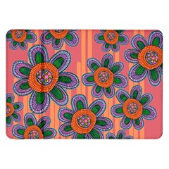 Colorful Floral Dream Samsung Galaxy Tab 8 9  P7300 Flip Case