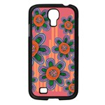 Colorful Floral Dream Samsung Galaxy S4 I9500/ I9505 Case (Black) Front