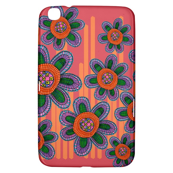 Colorful Floral Dream Samsung Galaxy Tab 3 (8 ) T3100 Hardshell Case