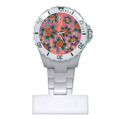 Colorful Floral Dream Plastic Nurses Watch by DanaeStudio