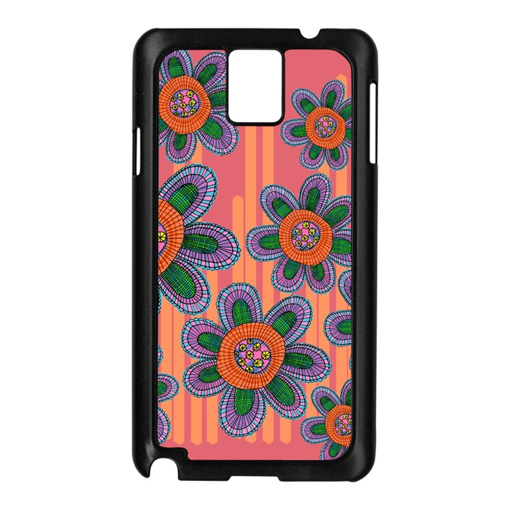 Colorful Floral Dream Samsung Galaxy Note 3 N9005 Case (Black)