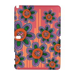 Colorful Floral Dream Samsung Galaxy Note 10 1 (p600) Hardshell Case by DanaeStudio