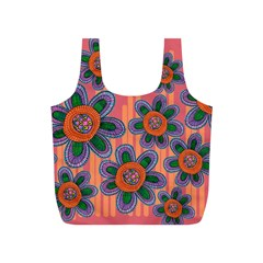 Colorful Floral Dream Full Print Recycle Bags (S)