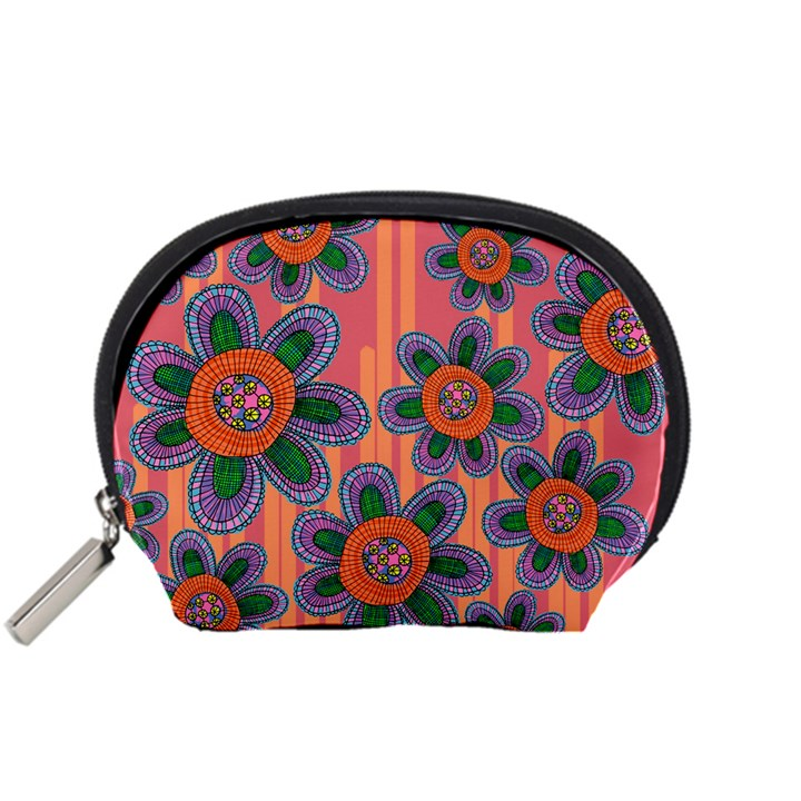 Colorful Floral Dream Accessory Pouches (Small)
