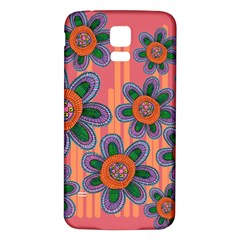 Colorful Floral Dream Samsung Galaxy S5 Back Case (white)
