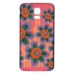 Colorful Floral Dream Samsung Galaxy S5 Back Case (White) Front